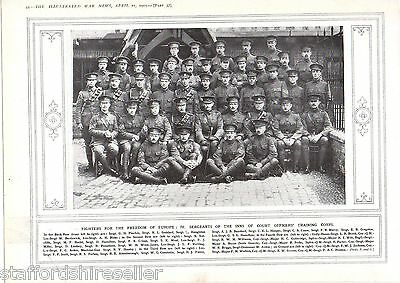 World War 1 Print 1915 Sergeants of the Inns of Court Officers Training Corps