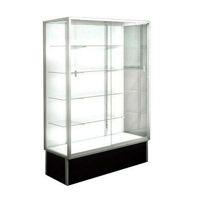 "EXTRA VISION WALLCASE, TROPHY GLASS DISPLAY CASE, 48"" Long x 72"" Tall #SGWC4"