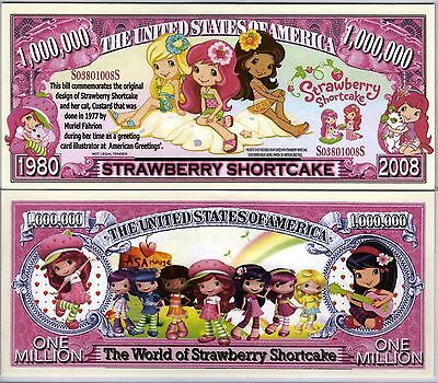 Strawberry Shortcake Cartoon Series Million Dollar Novelty Money