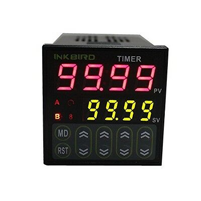 Inkbird Digital Twin Timer Relay Time Delay Relay Switch 110-220V Black IDT-E2RH