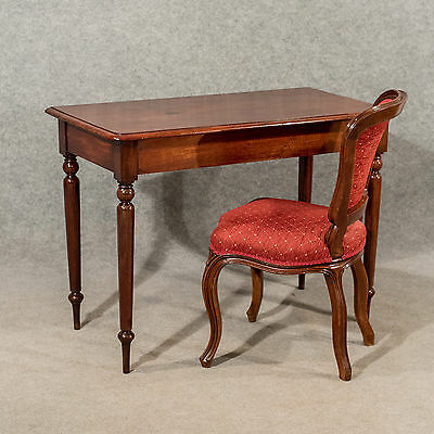 Antique Elegant Side Hall Lamp Table - English Georgian - Mahogany c1800
