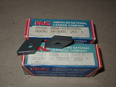 Lot of (19) DNGA 432 Ceramic Inserts American National Carbide (USA) ANC