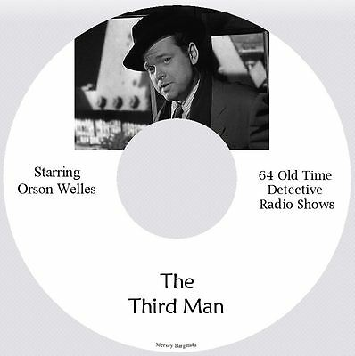 The Third Man - 64 Old Time Detective Radio Shows - MP3 CD Audio