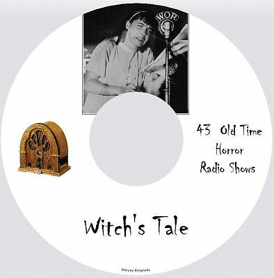WITCH'S TALE- 43 Old Time Horror Radio Shows - Audio MP3 CD