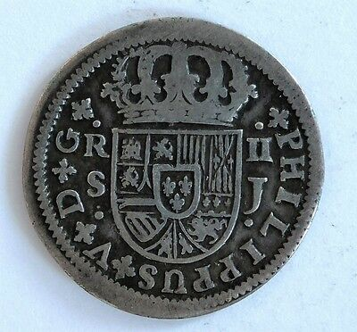 1723 Spain Two 2 Reals  Philip V Km 307 (5696)