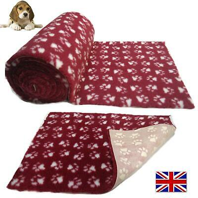 Heather White Paws Vet Bedding NON-SLIP ROLL WHELPING FLEECE DOG PUPPY PRO BED