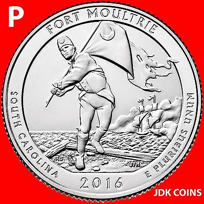 2016-P Fort Moultrie Sumter National Monument One Quarter