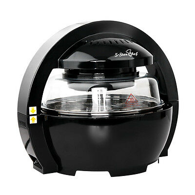 13L 5 Star Chef Oil-Less Air Fryer W/ Double Safety Settings Black