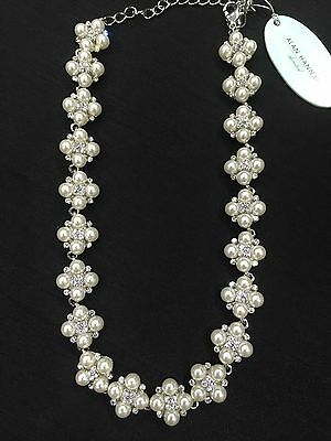 Alan Hannah Devoted- Designer Pearls & Crystal Necklace.