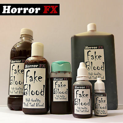 Horror FX Fake Blood Mouth Safe Stage Halloween Fancy Dress Theatrical Makeup