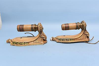 2x Antique Painted Lightolier Candle Wall Sconce