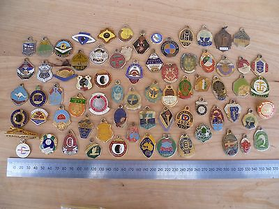 Vintage Large Lot 'mainly Australian' Enamel, Rsl, Bowling, Sports, Badges (A725