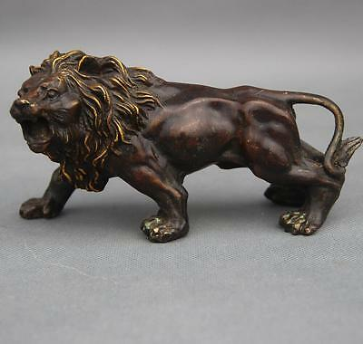 China hand carved decorative Exquisite Collectibles chinese bronze lion statue
