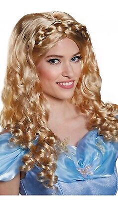 Disguise Womens Cinderella Disney Adult Costume Wig, Blonde, One Size