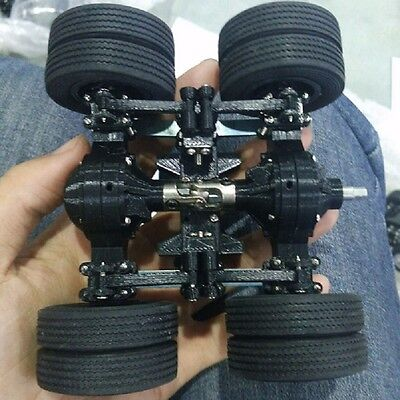 1:24 Heavy Car Dump Truck Dumper Tractor Tin Rear Axle Suspension With Tyres