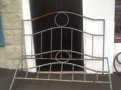 Vintage / Antique Rustic Wrought Iron Bed Ends