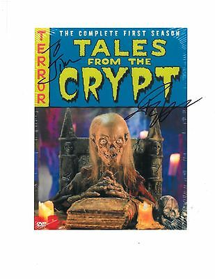 "John Kassir hand-signed ""Tales From the Crypt"" Scan of DVD Box 8 1/4"" X 11"""