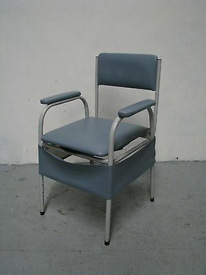 Over Toilet Frame Raiser Commode Chair With Padded Seat Cover Blue