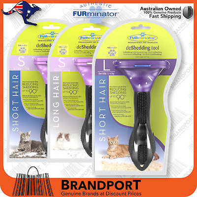 Furminator for CATS, LARGE size,choose Long/Short hair *Buy Genuine with 3DLogo*