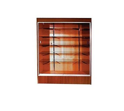 """Trophy Case, Glass Display Case, 70"""" Long x 78"""" Tall Cherry, #WC6CHE"""
