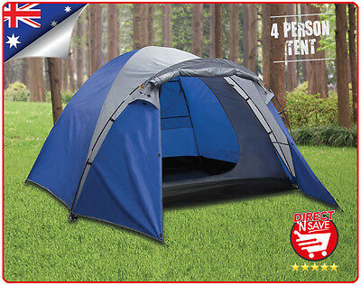 4 Person Man Dome Tent Shelter Camping Hiking Waterproof Zip Up No-Se-Um
