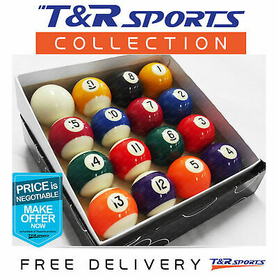 2-1/16 Inch Pool Billiards Kelly Balls 8 ball Set RRP $89.99 Free Postage