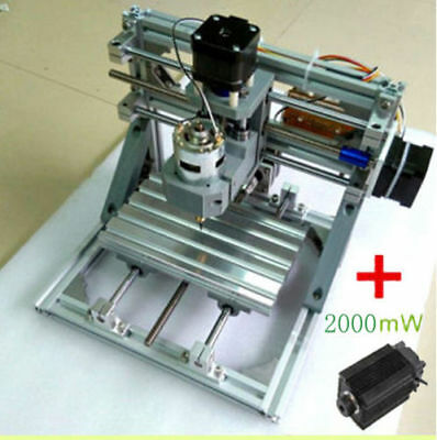 3 Axis Engraver Machine Milling Wood Carving Engraving + 2000mW laser head
