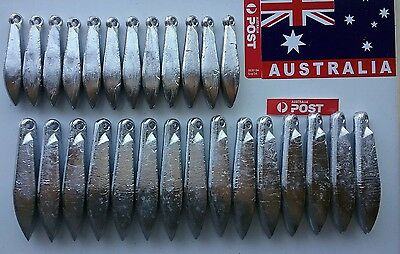 Sinkers. 27pcs 4 and 8oz Fishing tackle. Lead. Snapper Reef