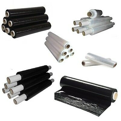 PALLET WRAP Clear & Black Stretch Shrink Film-All Quality-Strong For Packing
