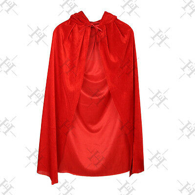 Halloween Party Adult Women Red Riding Hood Costume Long Cape Fancy Dress Cape