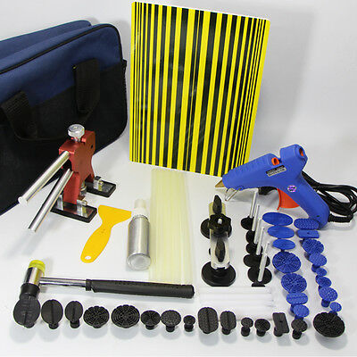 PDR Dent Puller Lifter Kits Paintless Repair Removal Sticks Hail Line Board Tool