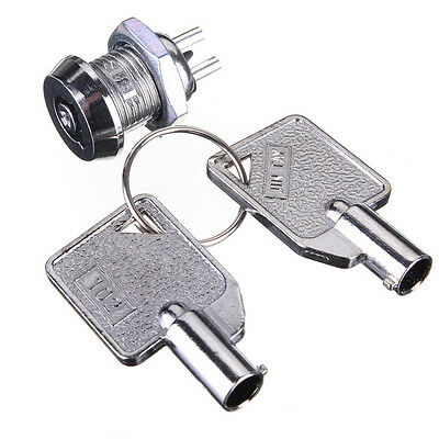 Key Operated Security Switch Single Pole Single Throw SPST 2 Position