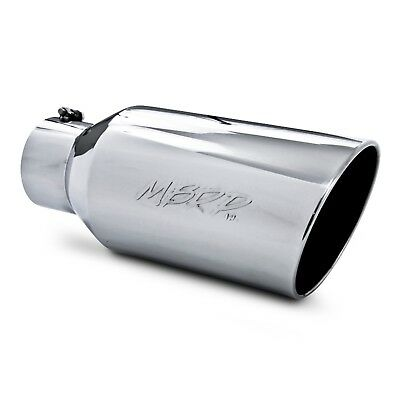 """MBRP T5129 18 Inch Stainless Exhaust Tip 5"""" Inlet 8"""" Outlet Angled Rooled Edge"""