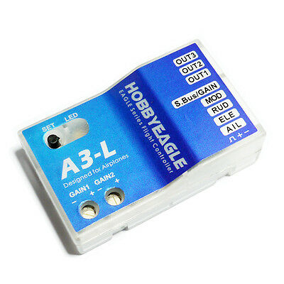 Hobby Eagle A3-L 3 Axis Airplane Gyro Flight Controller Stabilizer