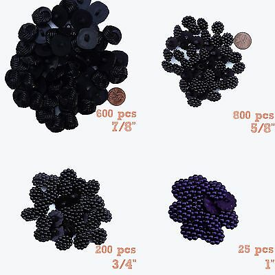 """Lot: Plastic Berry styled Shank Buttons - 7/8"""" 5/8"""" 3/4"""" 1"""" - 1600 Pcs BB8"""