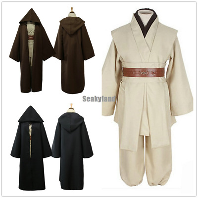 Star Wars Obi-Wan Kenobi Jedi Knight Full Set Adults Costume Cloak Suits Cosplay