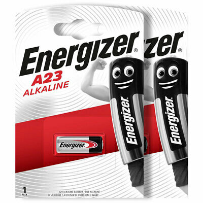 2 x Energizer Alkaline A23 batteries 12V MN21 A23 K23A LRV08 Alarms Calculator