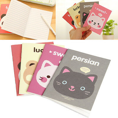 1pc Portable Kraft Paper Cute Cartoon Notepad Memo Diary Notebook Exercise Book