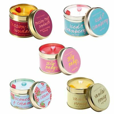 Bomb Cosmetics Scented Fragrant Handmade Candle in a Tin Gift  Various Scents
