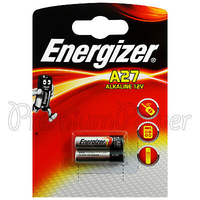 2 x Energizer Alkaline A27 batteries 12V MN27 E27A L828 E27 Alarms Calculators
