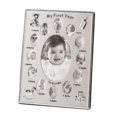 Gifts & Decor My First Year Baby Month by Month Photo Picture Frame