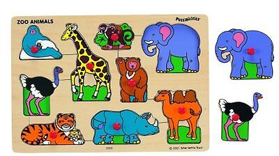 Small World Toys Ryan's Room Wooden Puzzle - Classic Zoo Ani