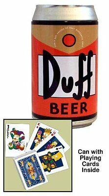 Duff Beer Can and Playing Cards The Simpsons Series 2