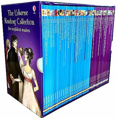 Usborne Reading Collection for Confident Readers 40 Books Box Set Read At Home