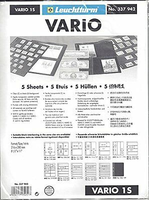 Lighthouse VARIO 1S Stamp Stock Pages-5 Pages