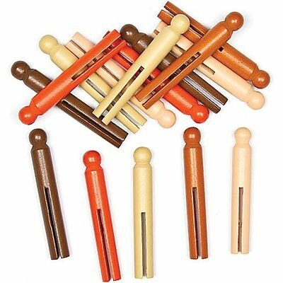 Multicultural Skin Tone Craft Pegs for Crafting Making Displ