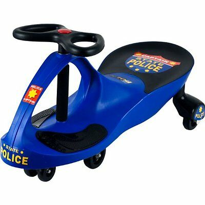 """Lil' Rider""""¢ Chief Justice Police Blue Wiggle Ride-on Car"""