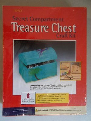 Tim Allen Secret Compartment Treasure Chest Craft Kit
