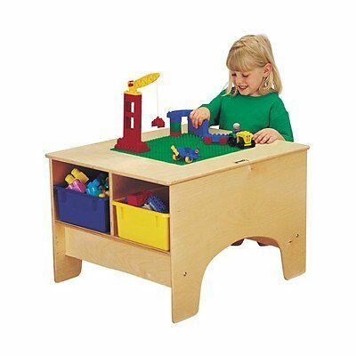 Jonti-Craft 57459JC, Kydz Building Table - Duplo Compatible With Colored Tu