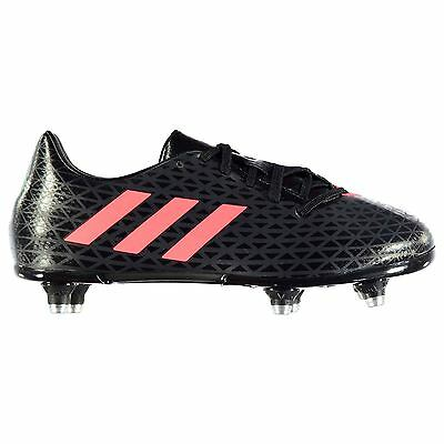 Adidas Malice Rugby Boots Juniors Black/Red Football Cleats Sports Footwear